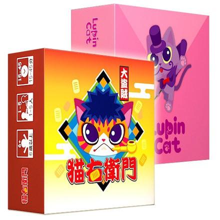 怪盜羅蘋貓 大盜賊貓右衛門 二合一桌遊 繁體中文版 高雄龐奇桌遊