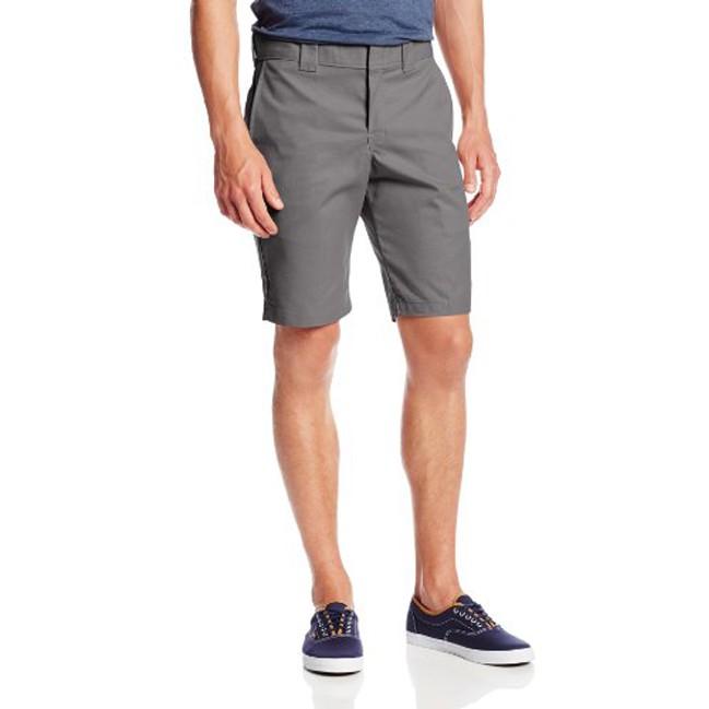 【DICKIES】WR849 Slim Fit 中低腰小直筒斜紋布 工作短褲 (VG鐵灰) 化學原宿