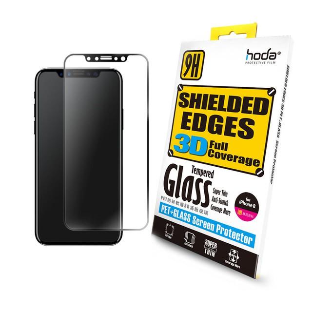 hoda iPhone X/Xs 5.8吋 防碎軟邊3D滿版9H鋼化玻璃保護貼【官方賣場】【瀏海版買一送一】