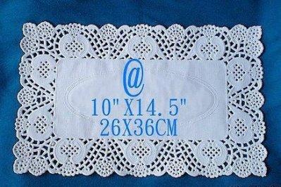 25入組! 小 19X30公分 進口 長方形 蕾絲紙 紙蕾絲 造型蕾絲 蛋糕紙 餐墊紙 花邊紙墊 包裝蕾絲 烘培紙