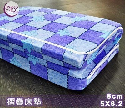 【名流寢飾家居館】杜邦高壓透氣棉三折.硬式床墊.8cm.標準雙人.全程臺灣製造
