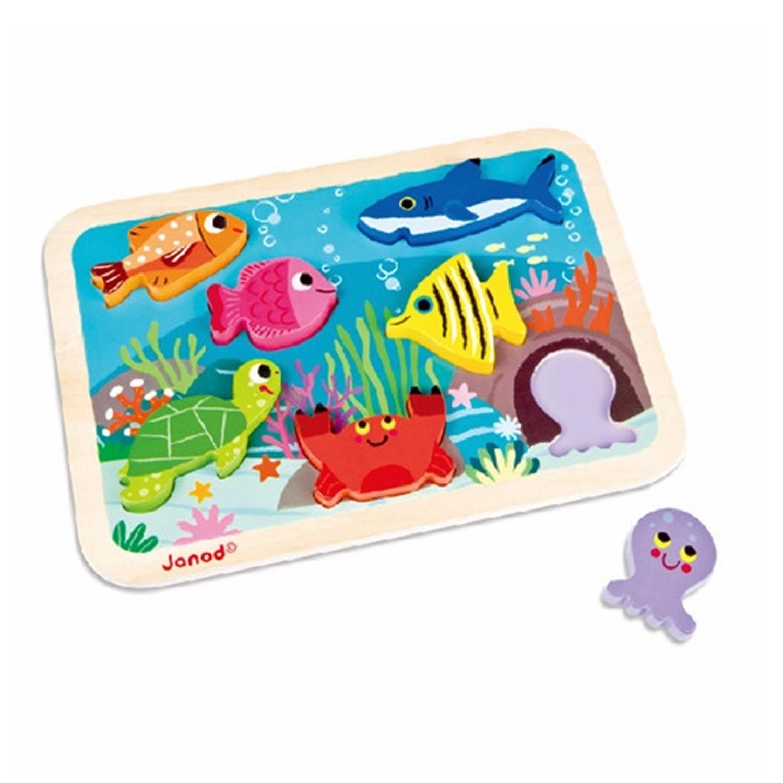 Janod  幼兒故事拼 海底世界