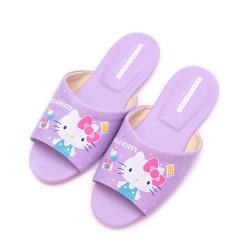 HELLO KITTY 45週年室內拖鞋 紫 女鞋 鞋全家福