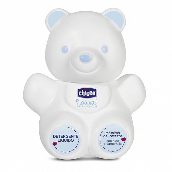 義大利Chicco 原生脂系列 熊型沐浴露300ml