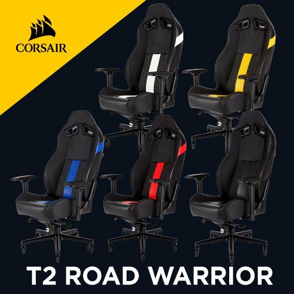 海盜船 CORSAIR T2 ROAD WARRIOR 人體工學高背電競椅 官方授權旗艦店