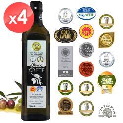 Oleum Crete 奧莉恩頂級初榨橄欖油4瓶(750ml/瓶)
