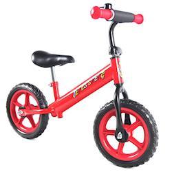 JS 12吋兒童平衡滑步車(酷炫紅)