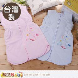 魔法Baby 嬰兒睡袍 台灣製絲絨厚鋪棉防踢睡袍~g3504