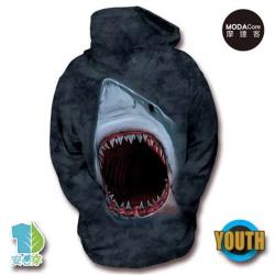 摩達客-美國The Mountain鯊魚口 少年兒童版 連帽T恤