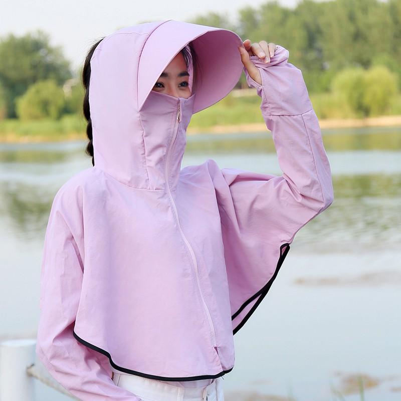 騎車防曬斗篷連帽外套 FSY0127 防曬披肩披風 防曬衣 騎車服 袖套 口罩