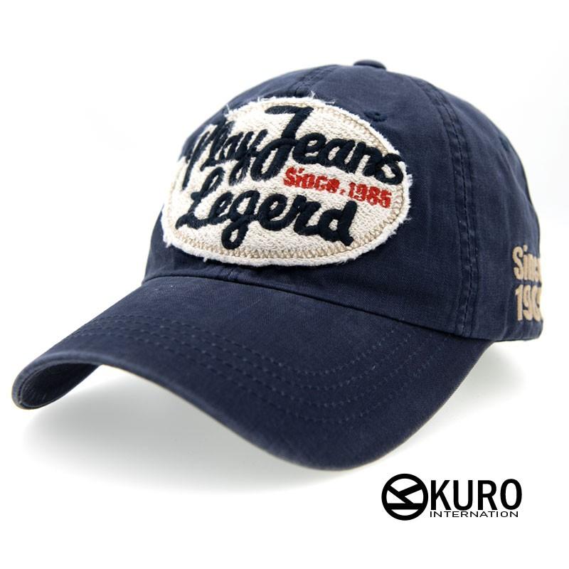 KURO-SHOP韓國進品深灰色Play Jeans Legend老帽棒球帽布帽