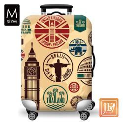 繽紛 行李箱套-環遊世界M