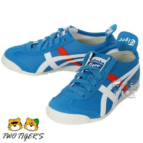 ASICS 亞瑟士 Onitsuka Tiger 紅白/藍色 運動鞋 中童鞋 NO.R1757