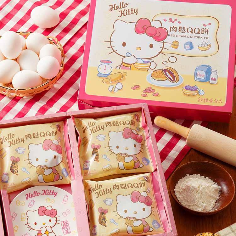 Hello Kitty肉鬆QQ餅禮盒(5入+1瓷盤/盒)