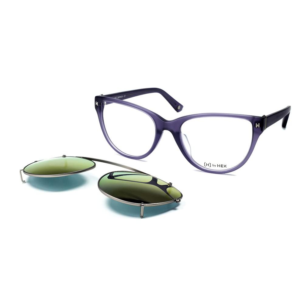 HEX Eyewear|空服員 - Ellen C.│光學配前掛墨鏡│太陽眼鏡│義大利設計 - 紫羅蘭