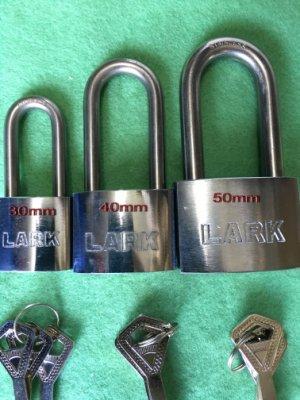 【88五金】LARK白鐵冷凍鎖 不銹鋼鎖頭 白鐵鎖頭 不銹鋼 (30mm中長) 台灣製