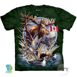 摩達客 (預購)(大尺碼4XL/5XL)美國進口The Mountain 加拿大潛鳥麋鹿 純棉環保藝術中性短袖T恤