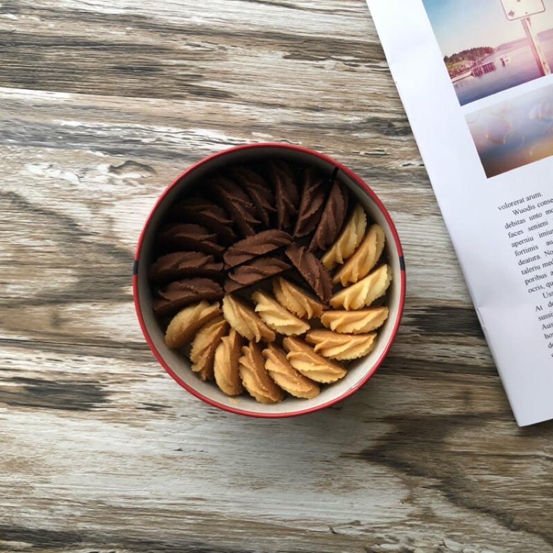 曲奇餅乾 一盒 口味任選 精美鐵盒 法國進口奶油 法芙娜可可粉 紐西蘭安佳奶粉