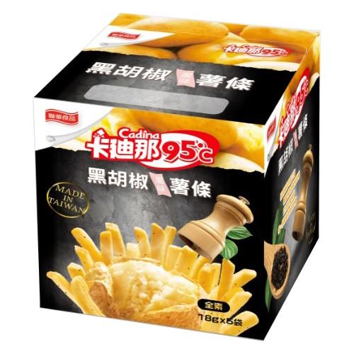卡迪那95℃黑胡椒薯條90g【愛買】