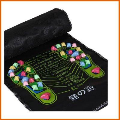 【Love Shop】仿鵝卵石足底按摩腳墊 腳底按摩器 健康之路按摩走毯穴位足療