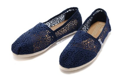 ☆╮A&T-TOMS╭☆專賣正品TOMS帆布鞋Morocco Crochet蕾絲簍空款【NAVY海軍藍】現貨-預購