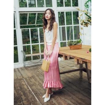超人気インスタグラムで話題 INS熱い販売 韓国ファッション 気質OL スタイル エレガント シルクセンス スカート 通勤 OL 女性美UP↑