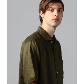 (TOMORROWLAND/トゥモローランド)ラミーバイオ カッタウェイカラー半袖シャツ/メンズ 55グリーン 送料無料