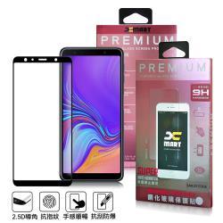 Xmart for 三星 Samsung Galaxy A7 2018 超透滿版 2.5D 鋼化玻璃貼-黑