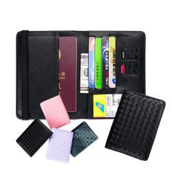 【玩皮工坊】真皮羊皮編織男女通用證件夾卡片夾護照夾男女夾KN103