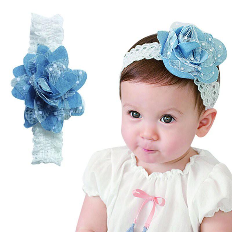 寶貝女孩花頭帶髮帶兒童頭帶兒童頭飾【IU貝嬰屋】