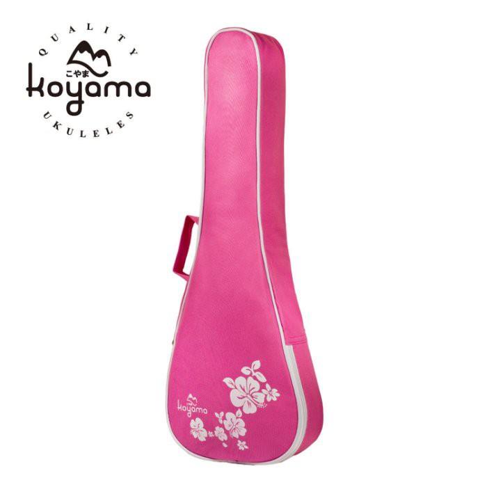 【全館折300】Koyama 扶桑花 烏克麗麗袋 烏克麗麗背袋 烏克麗麗琴袋 21吋烏克麗麗專用 粉紅色