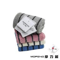 MORINO摩力諾-美國棉色紗彩條方巾(1條)