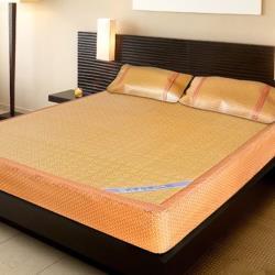 凱蕾絲帝-厚床專用柔藤紙纖床包涼蓆三件組(床蓆x1+枕蓆x2)-雙人特大7尺