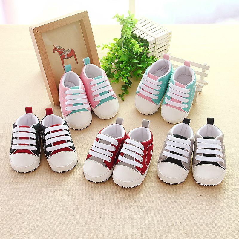 嬰兒運動鞋新生嬰兒童床鞋幼兒鞋帶軟底鞋【IU貝嬰屋】