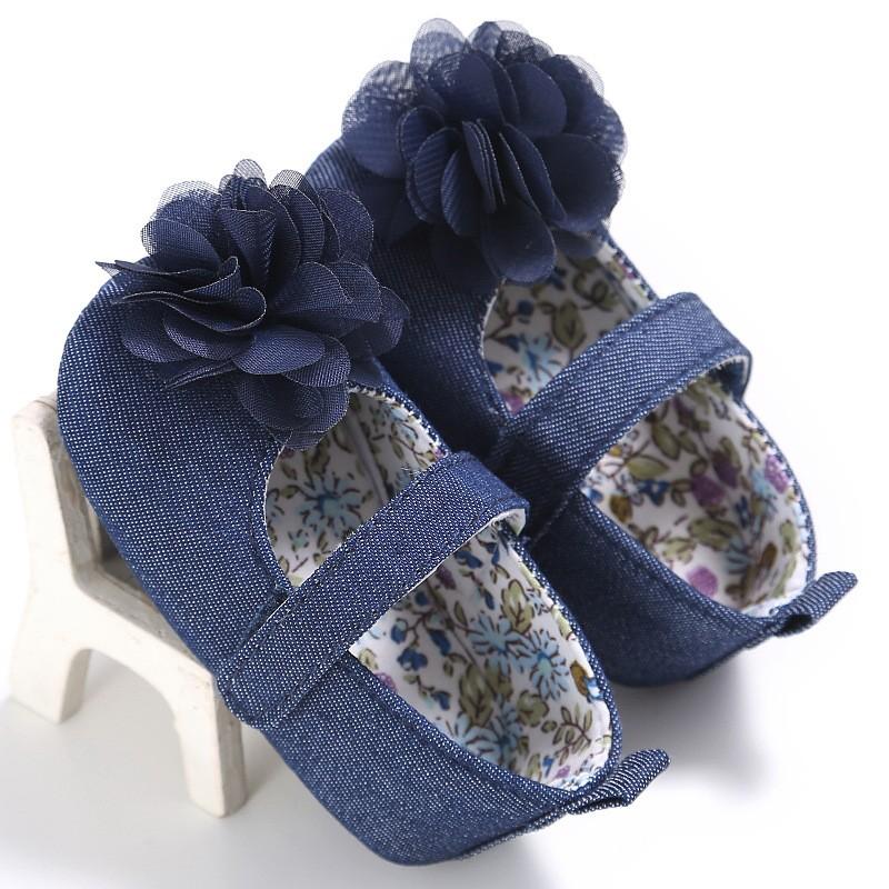 童鞋 新款童鞋嬰幼童寶寶鞋嬰兒鞋男女寶寶嬰兒學步鞋0-1歲女寶寶純色花朵公主鞋軟底嬰兒學步鞋