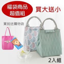 E.City_【福袋商品超值組】買大送小-多功能手提收納包保溫多用袋(2入組)