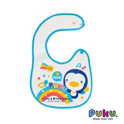 任-PUKU藍色企鵝 釘釦圍兜(水色)