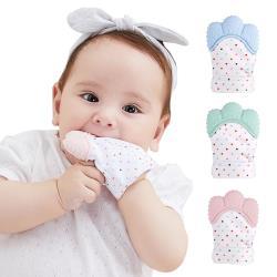 【3入】嬰兒牙膠手套 寶寶磨牙拳套牙膠