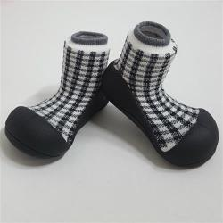 韓國Attipas快樂學步鞋-黑色蘇格蘭