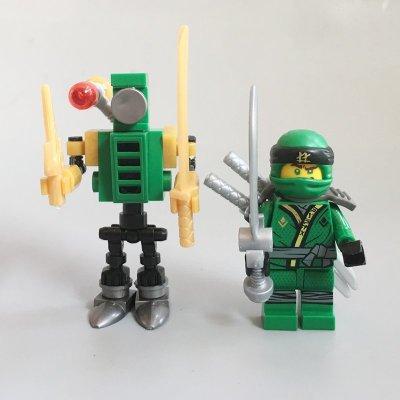 【積木班長】勞埃德 LLOYD 一款兩隻 旋風忍者 大電影 幻影忍者 人偶 人仔 袋裝/相容 樂高 LEGO 積木