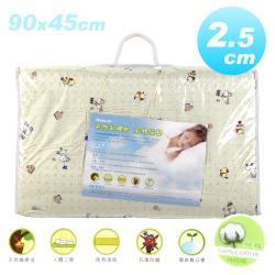 NATURAL 1吋純棉天然乳膠床墊(90x45cm)-女生款黃色粉紅色隨機出貨