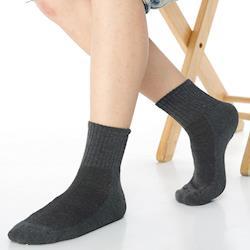 【KEROPPA】可諾帕細針毛巾底5比1氣墊1/2短襪(男女適穿)x3雙C91006