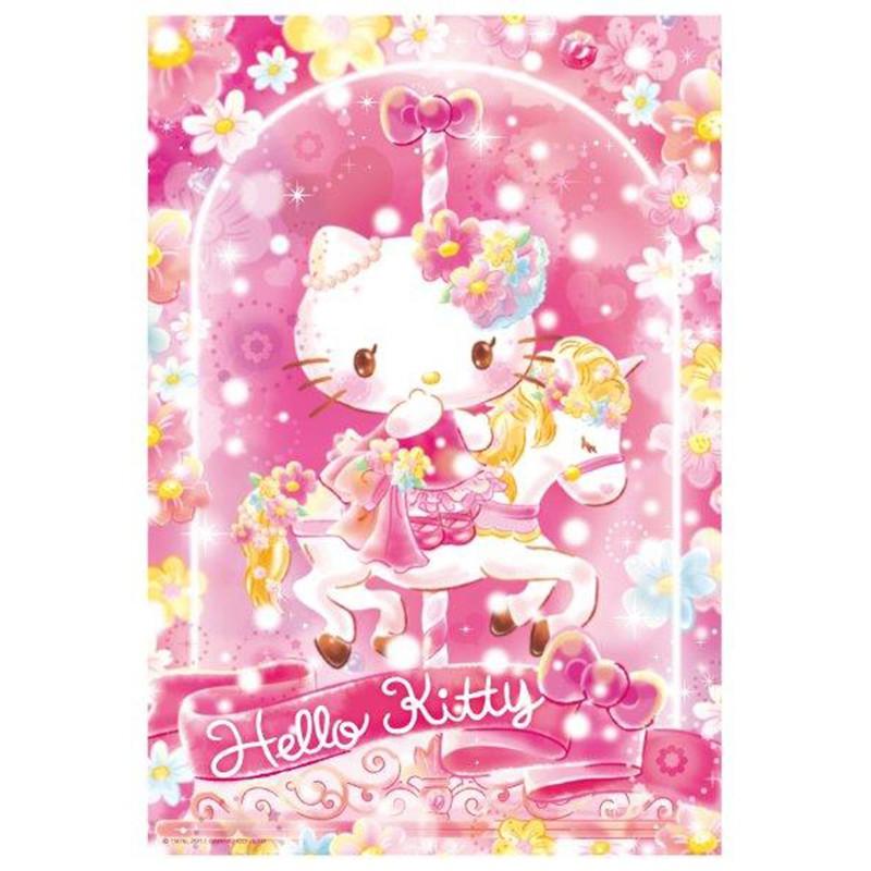 Hello Kitty【夢幻水晶系列】旋轉木馬拼圖300片