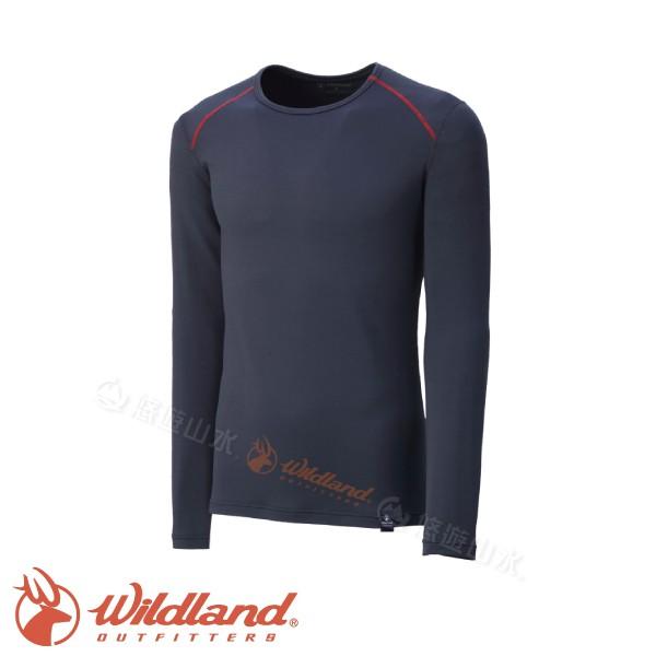 【Wildland 荒野 男款 輕量抗菌親膚保暖衣 深灰】0A32668/保暖衣/保暖內層/內搭/悠遊山水