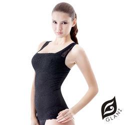 GLANZ 格藍絲  280丹精品蕾絲V型美背托胸纖腹勻體背心(2件組)
