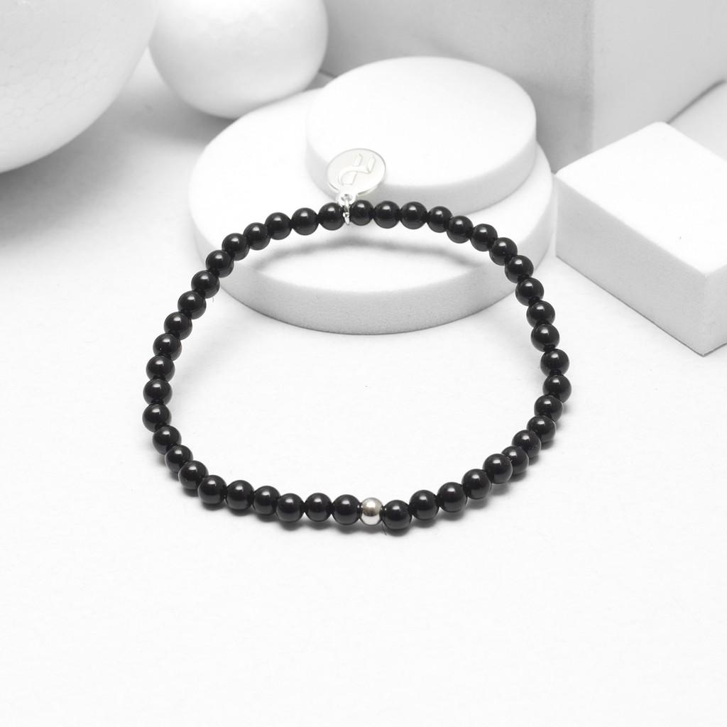 Recovery 亮面4MM串珠手環 (黑、黑膽石)