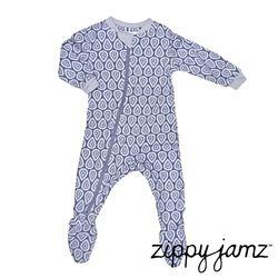 【ZippyJamz】有機棉寶寶拉鍊連身衣-滴答夢
