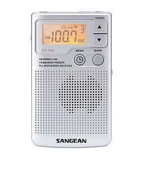 SANGEAN 山進  二波段 數位式口袋型收音機 DT-125