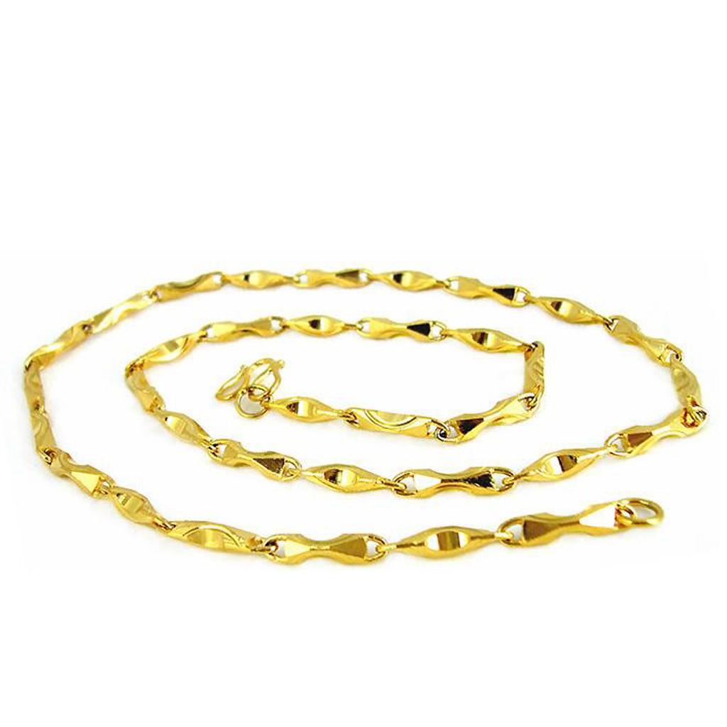 金項鍊 元寶 鍍真金色 仿金 項鏈 防過敏 防退色 艾豆『D1423』