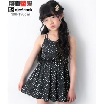 【セール開催中】ANAP(アナップ)子供服 総柄ワンピース風セパレート水着 女の子